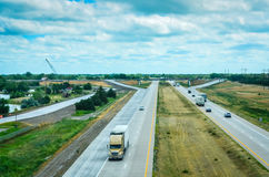 I-80 Highway. Interstate 80 highway seen from overlook at Great Platte River Road Archway Monument Museum in Kearney, Nebraska Stock Photo