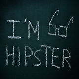 I am hipster Royalty Free Stock Photos