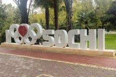 I hjärta, inskrift Sochi Arkivbilder