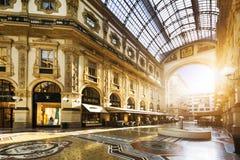 I hjärtan av Milan Italien Royaltyfria Foton
