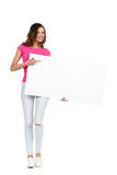 I Hold Blank Poster For You Stock Photography