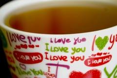 ` I houd van u `-kop stock fotografie