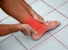 I hurt my ankle Royalty Free Stock Photography