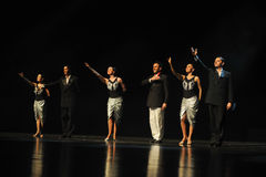 I huvudrollen drama för gardinappell-tango dans Royaltyfri Bild