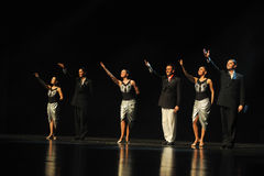 I huvudrollen drama för gardinappell-tango dans Royaltyfria Bilder