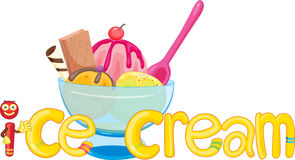 I for ice-cream Royalty Free Stock Images