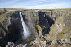 I ifoss del ¡ di HÃ cadono, fiume del ¡ di FossÃ, Islanda 2 Immagine Stock
