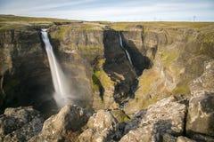 I ifoss del ¡ di HÃ cadono, fiume del ¡ di FossÃ, Islanda 9 Immagini Stock