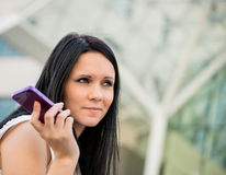 I ignore you. Young beautiful woman with mobile phone bored from call Stock Photography