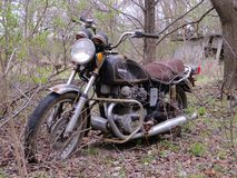 If Only This Bike Could Talk!. I image it would be a very interesting story if this old motorcycle could tell a few stories Royalty Free Stock Photography