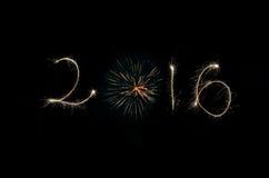 2016 i irework Arkivbild