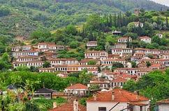 By i Izmir Turkiet Sirince arkivfoto