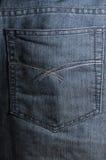 I jeans appoggiano la casella Fotografie Stock Libere da Diritti