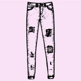 I jeans delle donne, pantaloni del denim royalty illustrazione gratis