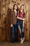 I jeans disegnano per gli anni dell'adolescenza Fotografie Stock