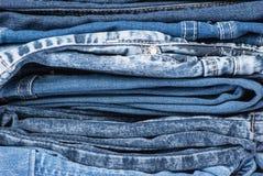 I jeans si chiudono su fondo Fotografia Stock Libera da Diritti