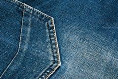 I jeans strutturano con le cuciture immagine stock