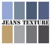 I jeans strutturano il vettore senza giunte Immagini Stock