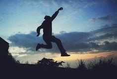 I jump stock images