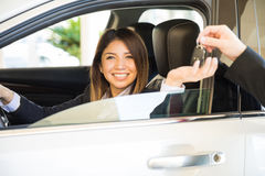I just bought a brand new car Stock Photography