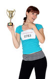 I just won the marathon Royalty Free Stock Photography