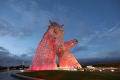 I Kelpies Falkirk fotografie stock libere da diritti