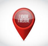 I Know I believe pointer sign illustration Royalty Free Stock Photos