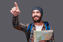 I know the right direction! Royalty Free Stock Photo