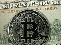 I kod litar på vi Blockchain crypto teknologiprincip arkivfoton
