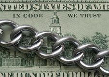 I kod litar på vi Blockchain crypto teknologiprincip royaltyfria bilder