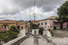 By i Korfu Fotografering för Bildbyråer