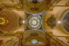 I kyrkan av St Bartholomew i Soller Spanien Arkivfoton