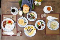 i lager redigerbara lutningar för illustrationsfrukost ingen använd set Royaltyfri Foto