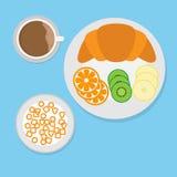 i lager redigerbara lutningar för illustrationsfrukost ingen använd set Arkivfoto