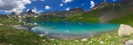 I laghi del turchese se il bacino Colorado dei laghi ice immagine stock libera da diritti