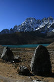 I laghi sacri in Gokyo Fotografia Stock