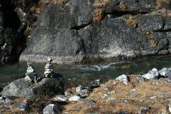 I laghi sacri in Gokyo Immagini Stock Libere da Diritti