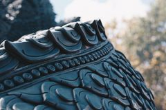 I legend ska Naga skydda buddhism arkivbild