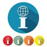 I letter symbol flat design Stock Images