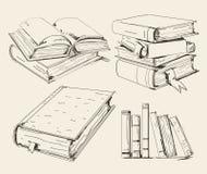 I libri hanno impostato Immagini Stock