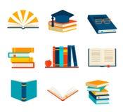 I libri hanno impostato isolato Illustrazione Vettoriale