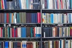 I libri nella biblioteca Fotografia Stock Libera da Diritti