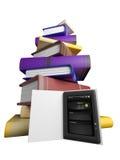 I libri volano nel vostro ridurre in pani Fotografie Stock Libere da Diritti