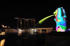 I Light Marina Bay Royalty Free Stock Photos