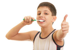 I like brushing teeth Stock Images