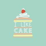 I like cake. Stock Photo