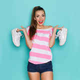 I Like Comfortable Sneakers Royalty Free Stock Photo