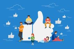 I like it concept illustration Stock Image