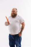 I like eating healthy food Stock Images