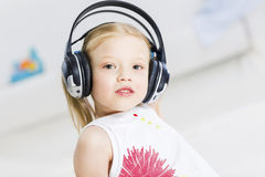 I like listen music Stock Photo